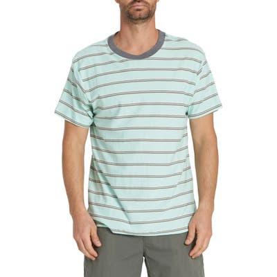 Billabong Die Cut Stripe T-Shirt, Blue/green