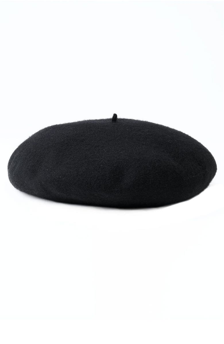 NORDSTROM Wool Beret, Main, color, 001