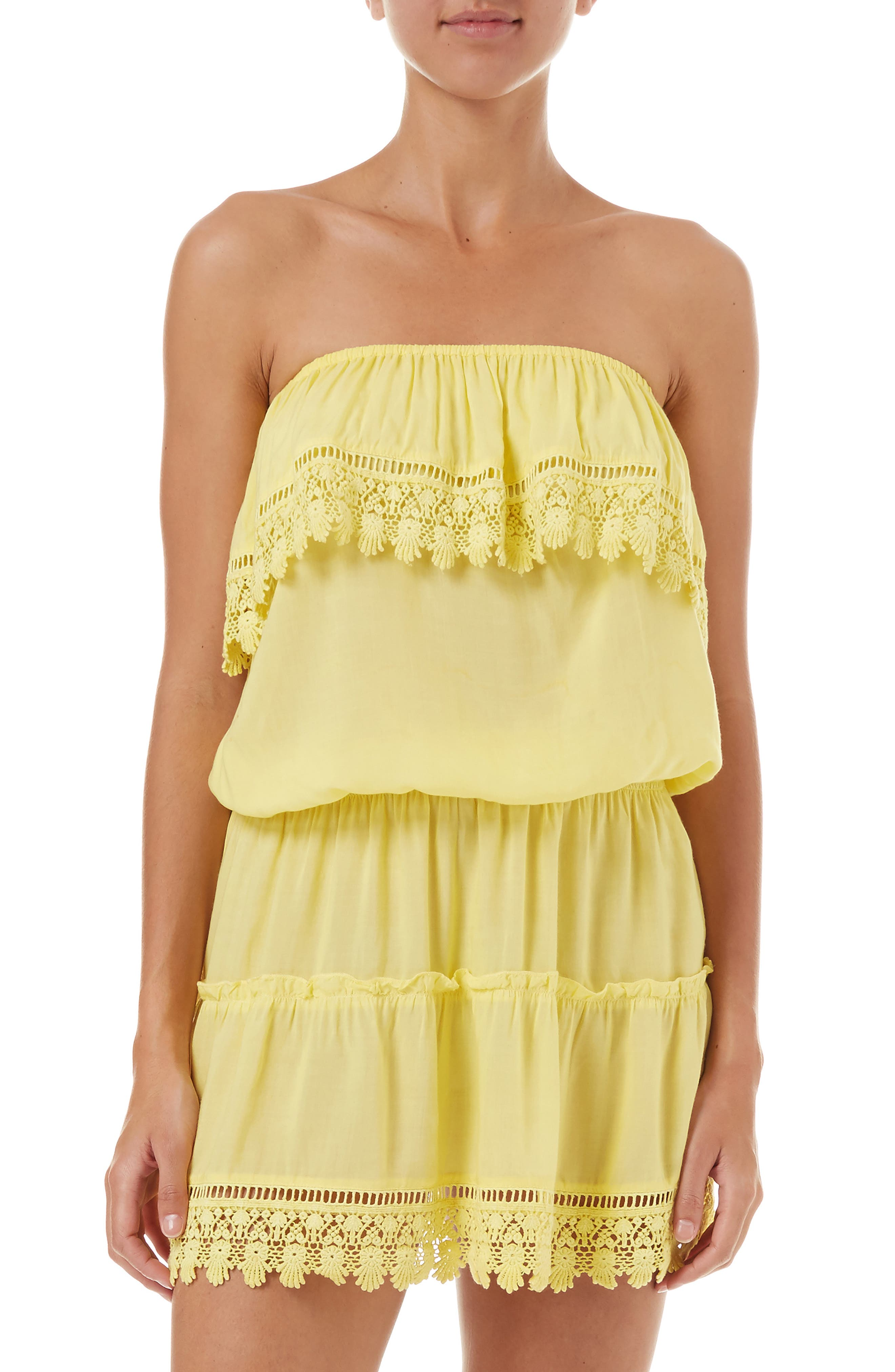 Melissa Odabash Joy Cover-Up Dress, Yellow