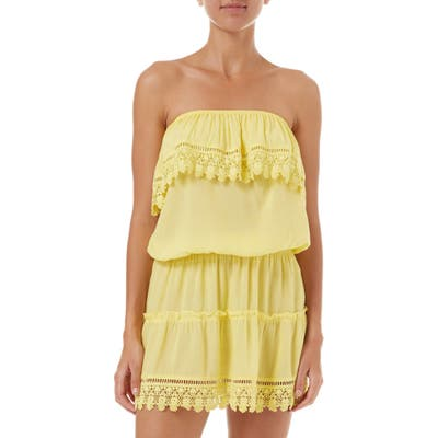 Melissa Odabash Joy Cover-Up Dress, Yellow (Nordstrom Exclusive)