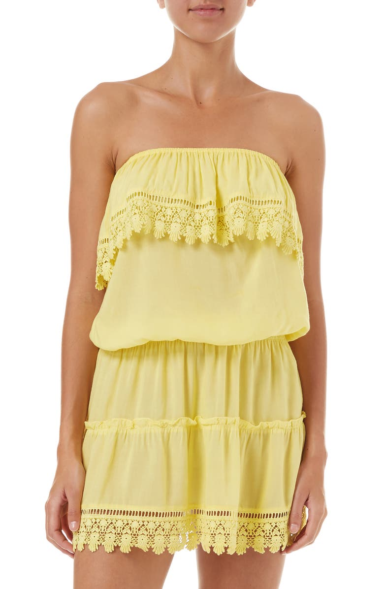 MELISSA ODABASH Joy Cover-Up Dress, Main, color, YELLOW