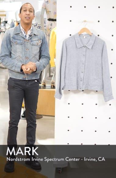 Crop Organic Linen Jacket, sales video thumbnail