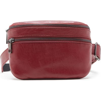 Sole Society Cadee Faux Leather Belt Bag - Red