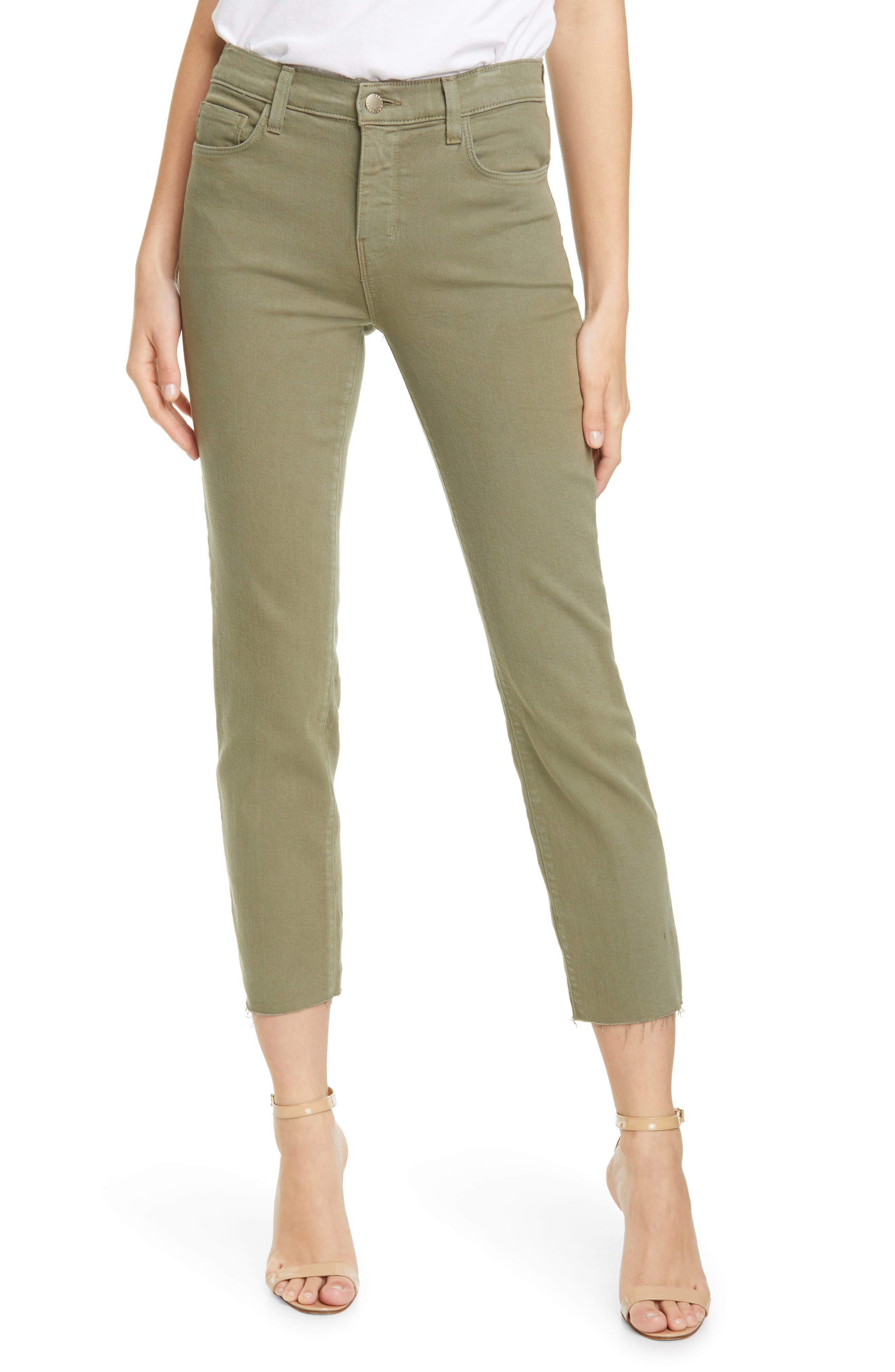 L Agence Women's Sada High-rise Crop Slim Straight Jeans In Basil