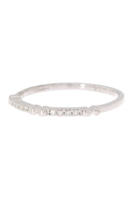 Image of Carriere Sterling Silver Diamond Stackable Ring - 0.06 ctw