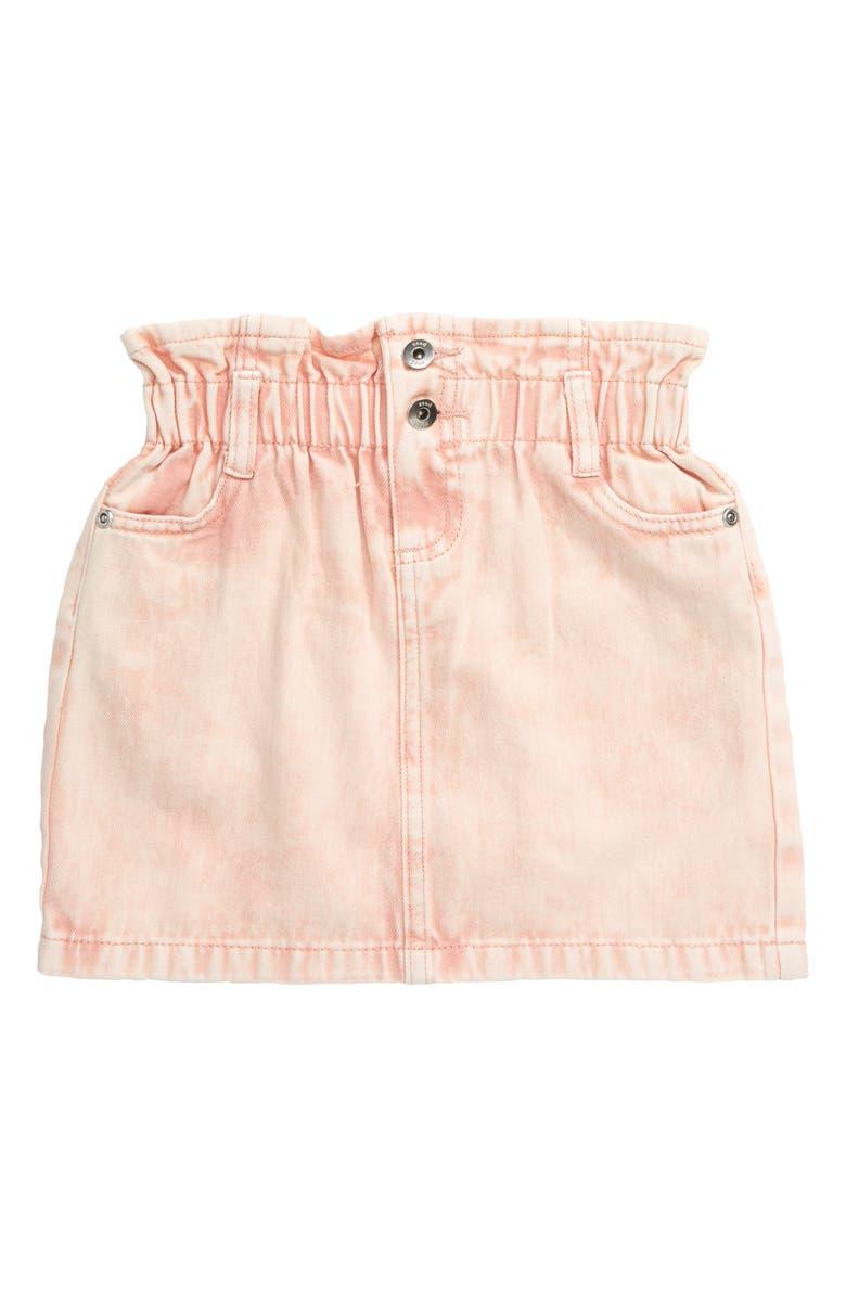 SEED HERITAGE Paperbag Waist Denim Skirt, Main, color, ROSE ACID WASH
