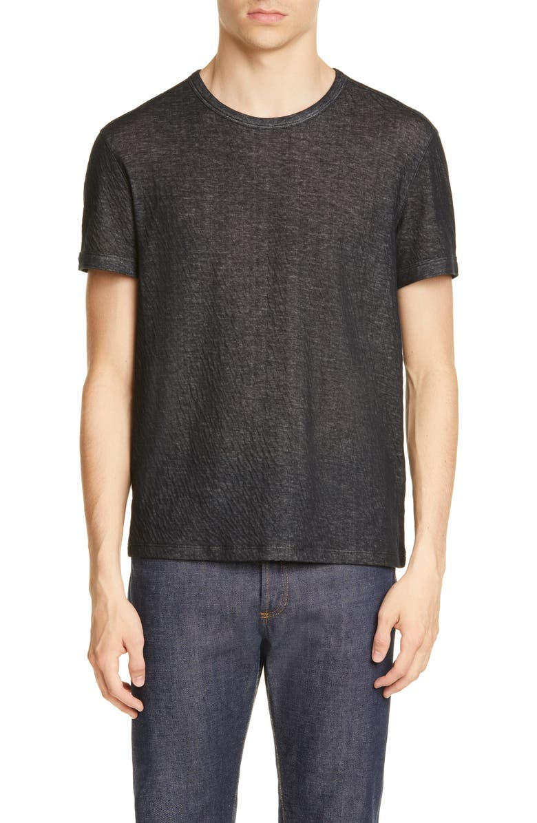 JOHN VARVATOS Crinkle T-Shirt, Main, color, 001