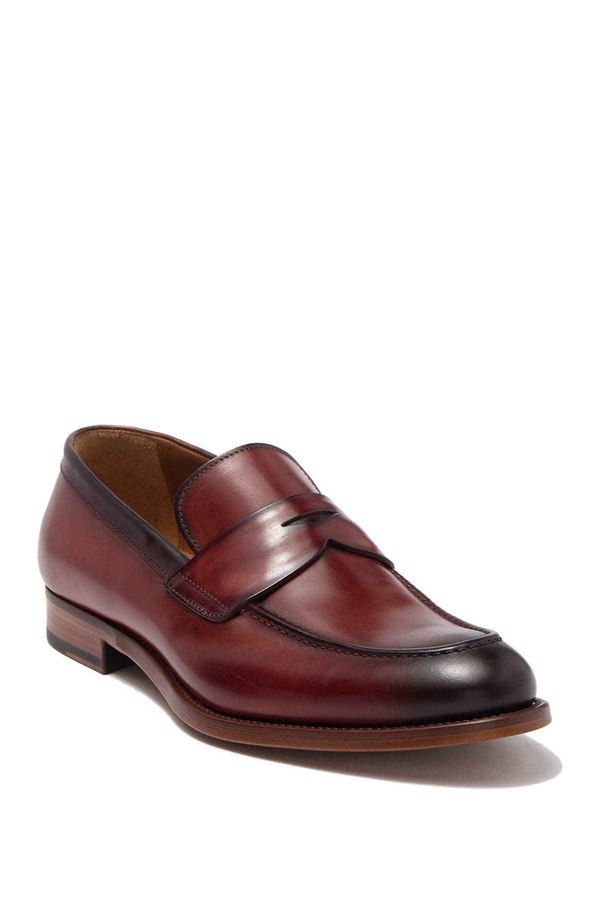 Image of Antonio Maurizi Leather Penny Loafer