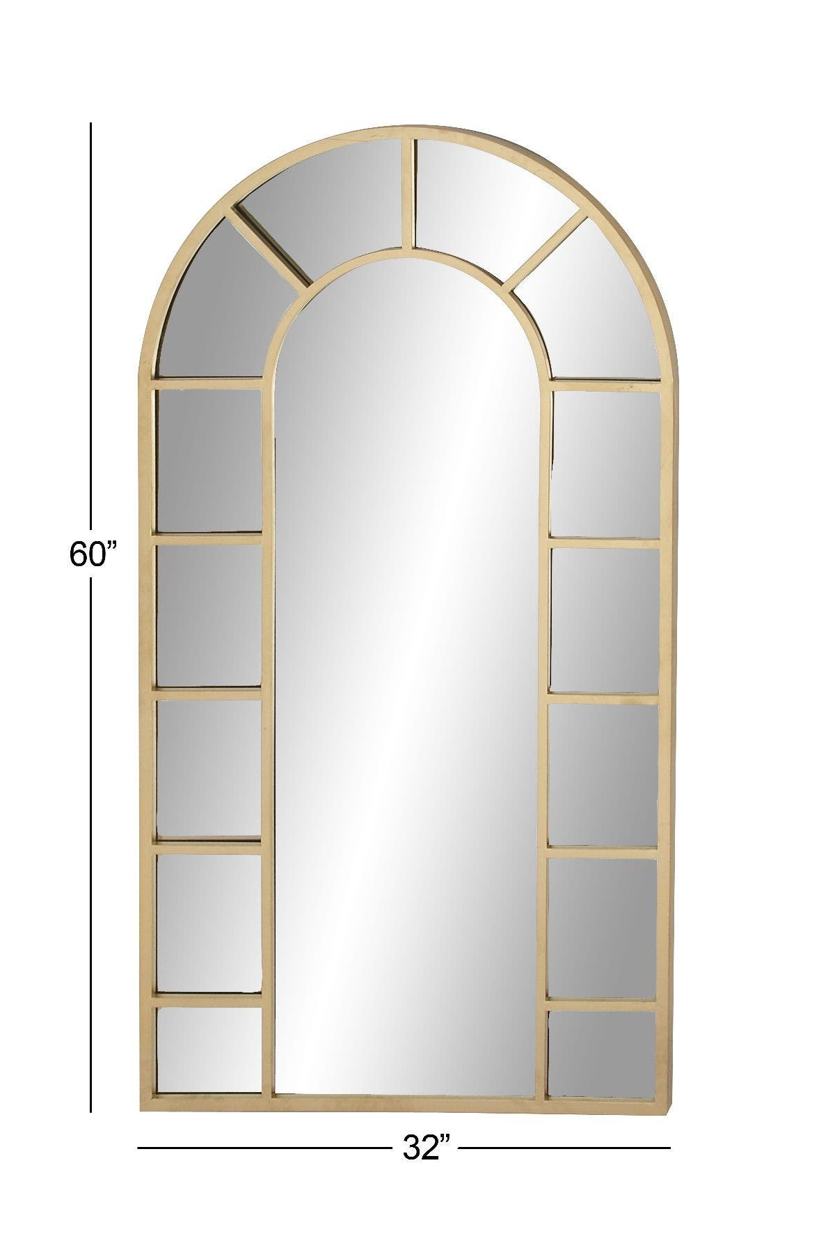 Image of Willow Row Gold Contemporary Framed Arched Wall Mirror