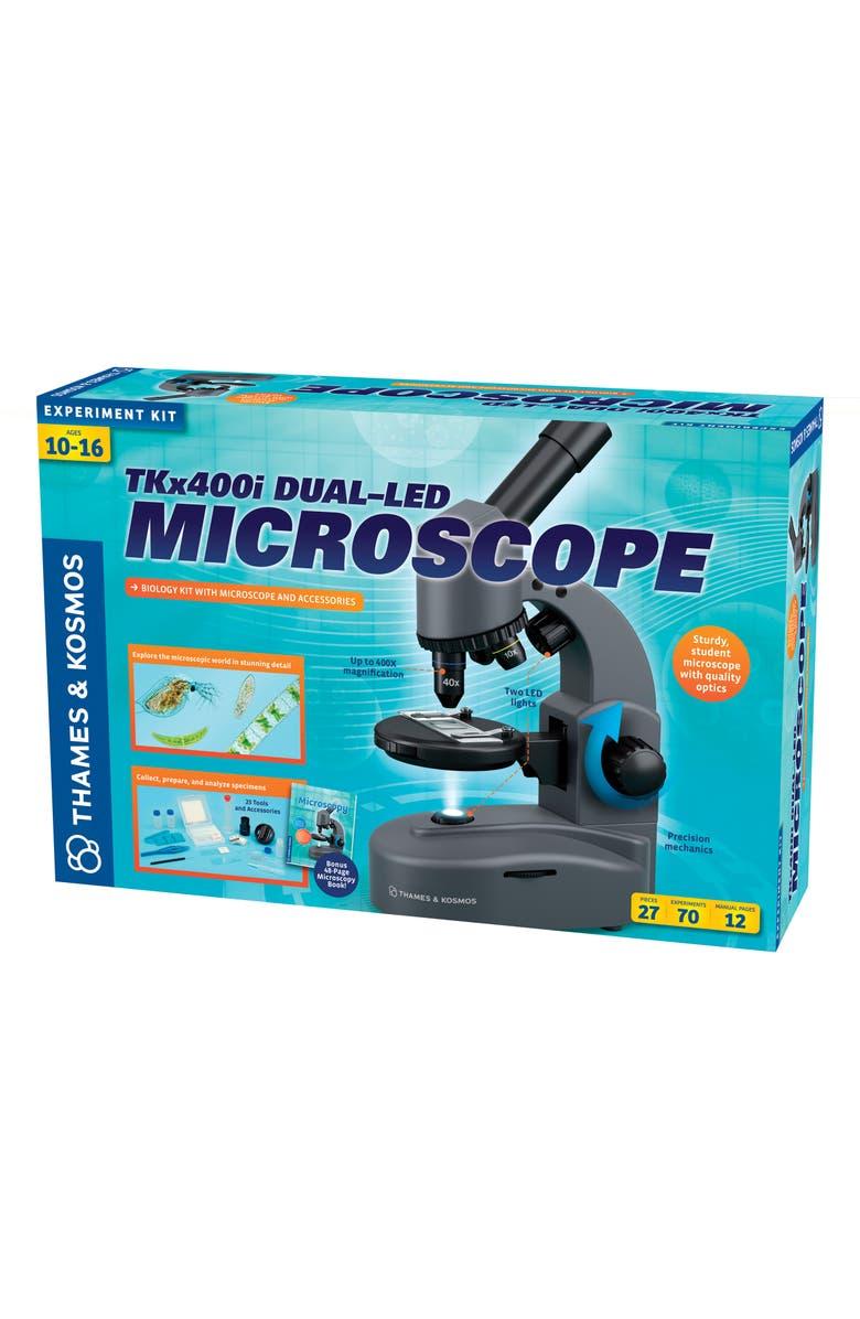 THAMES & KOSMOS TKx400i Dual-LED Microscope, Main, color, GREY