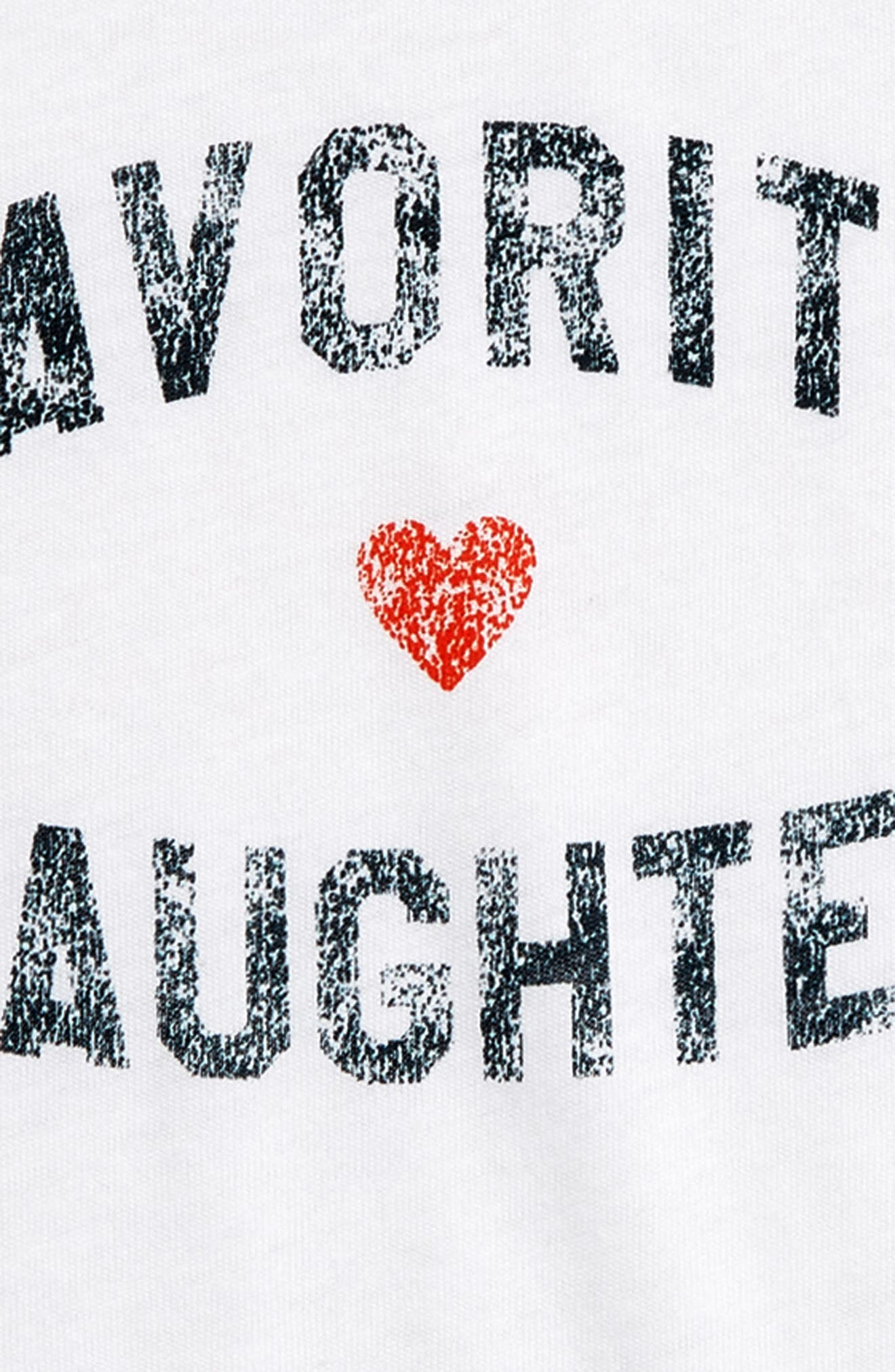,                             Favorite Daughter Graphic Tee,                             Alternate thumbnail 2, color,                             WHITE