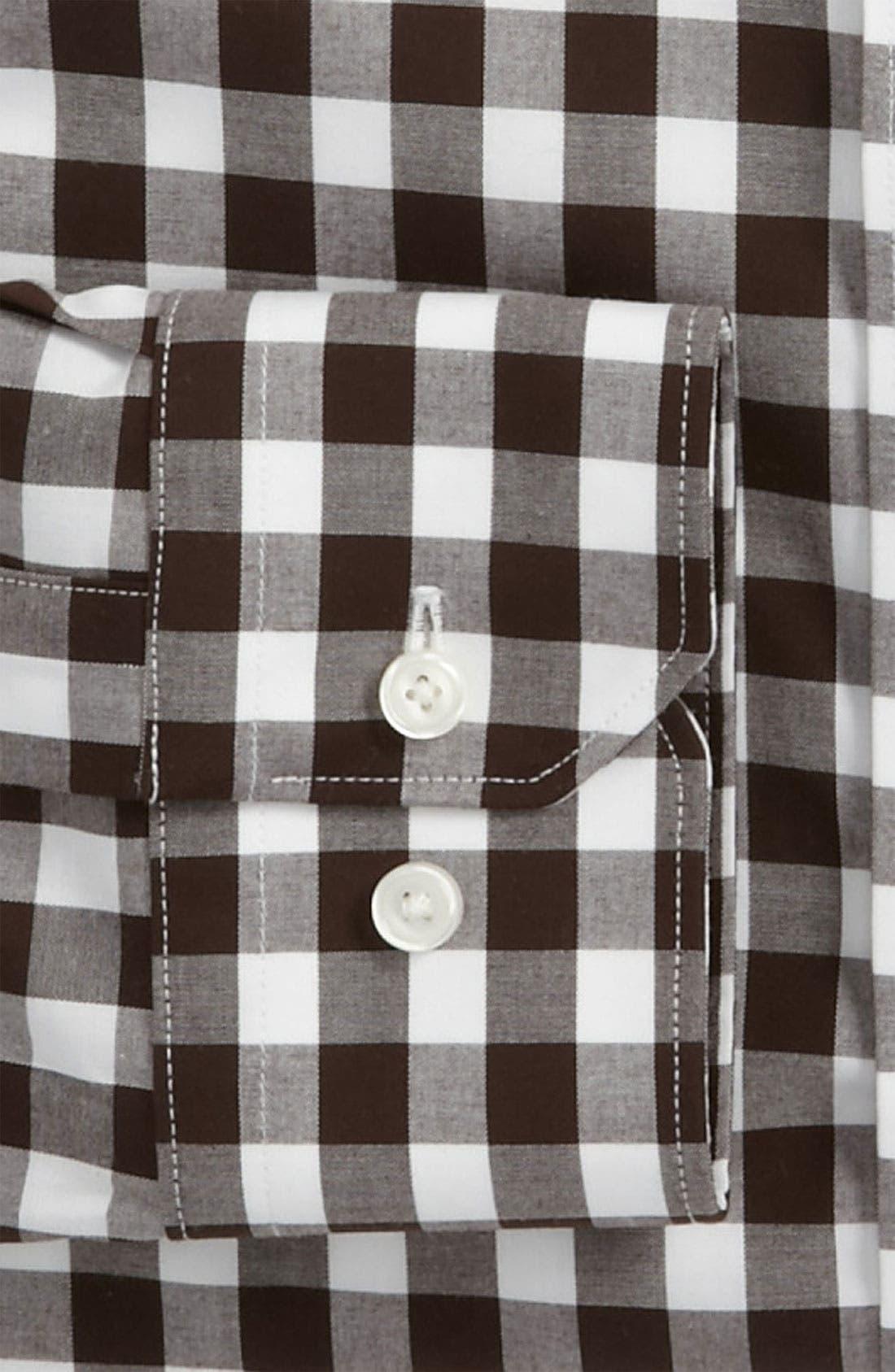 ,                             Slim Fit Non Iron Gingham Dress Shirt,                             Alternate thumbnail 4, color,                             200