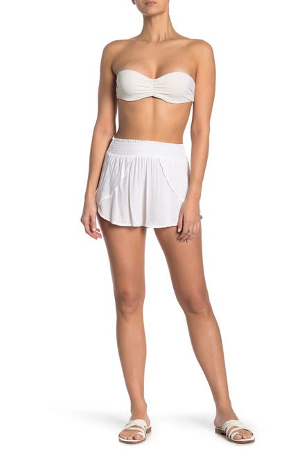 Image of ELAN Tulip Solid Cover-Up Shorts