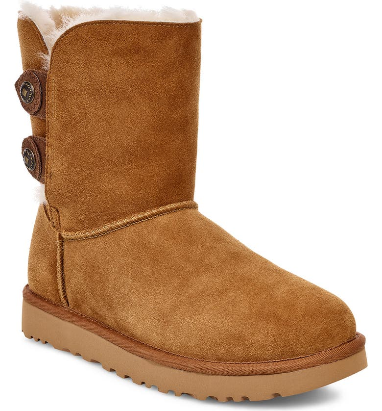 UGG<SUP>®</SUP> Marciela II Water Resistant Boot, Main, color, CHESTNUT SUEDE