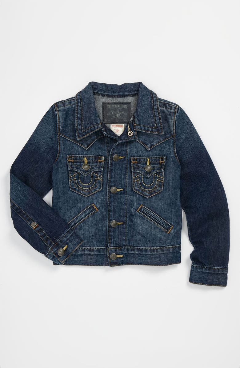 True Religion Brand Jeans 'Johnny' Denim Jacket (Little ...
