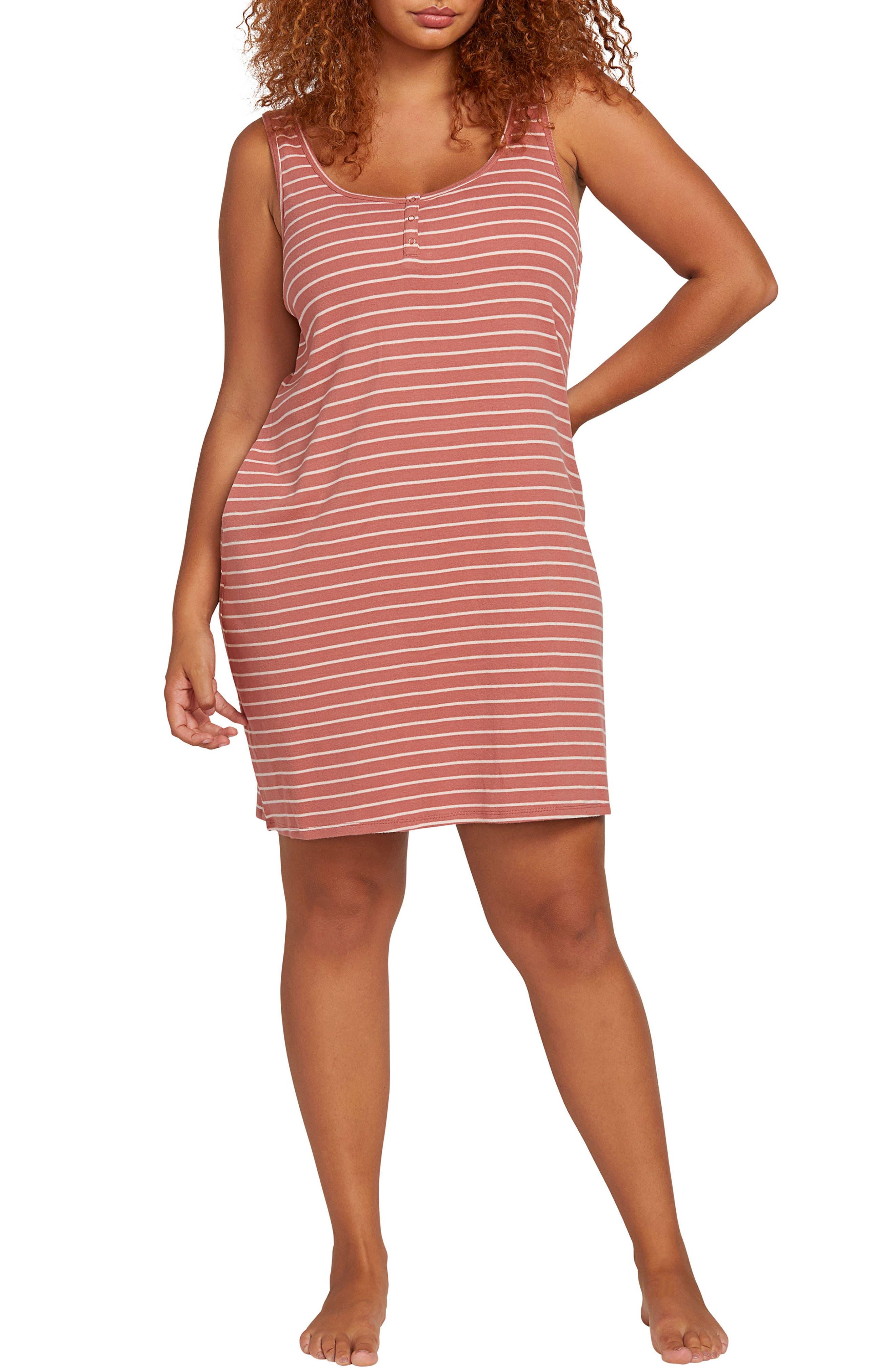 Plus Size Volcom Lil Stripe Minidress, Pink