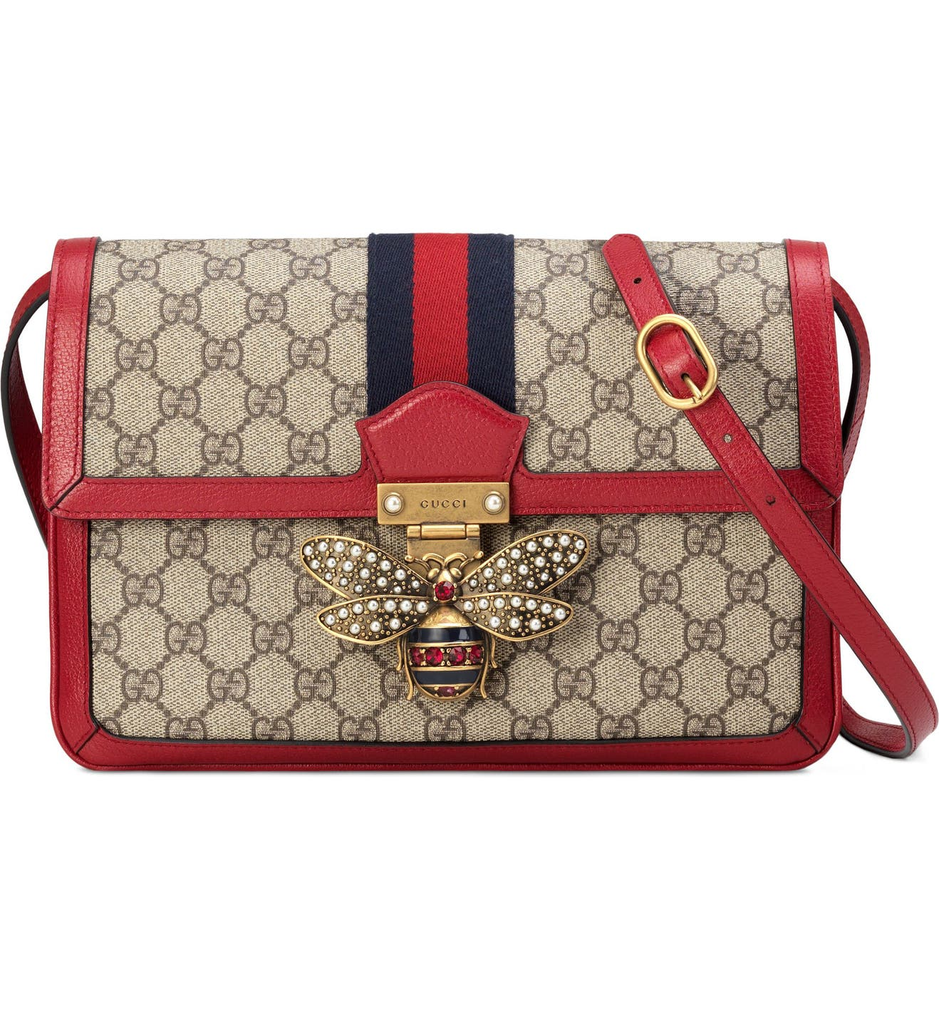 16f01716cd28 Gucci Queen Margaret GG Supreme Small Crossbody Bag | Nordstrom