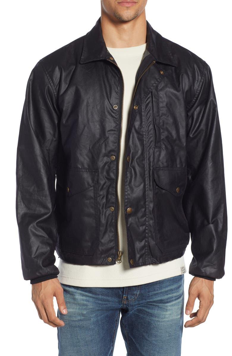 FILSON Aberdeen Waxed Cotton Jacket, Main, color, BLUE COAL