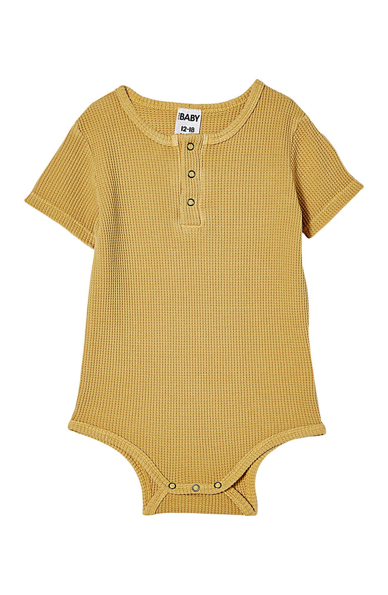 Image of Cotton On The Short Sleeve Waffle Bodysuit