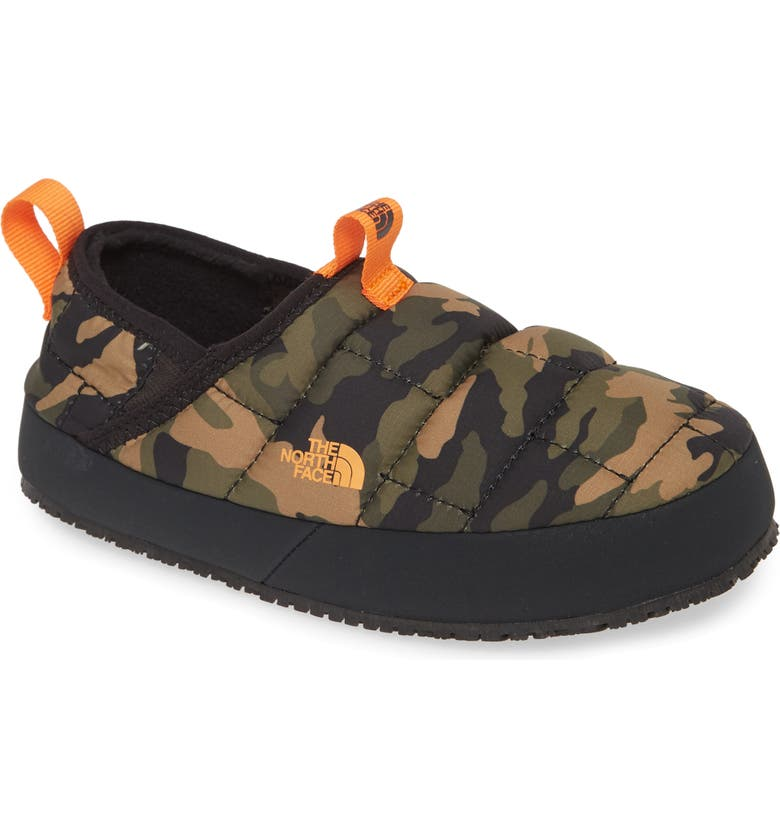 THE NORTH FACE Thermal Tent Mule II Water Resistant Slipper, Main, color, BURNT OLIVE GREEN CAMO/ BLACK