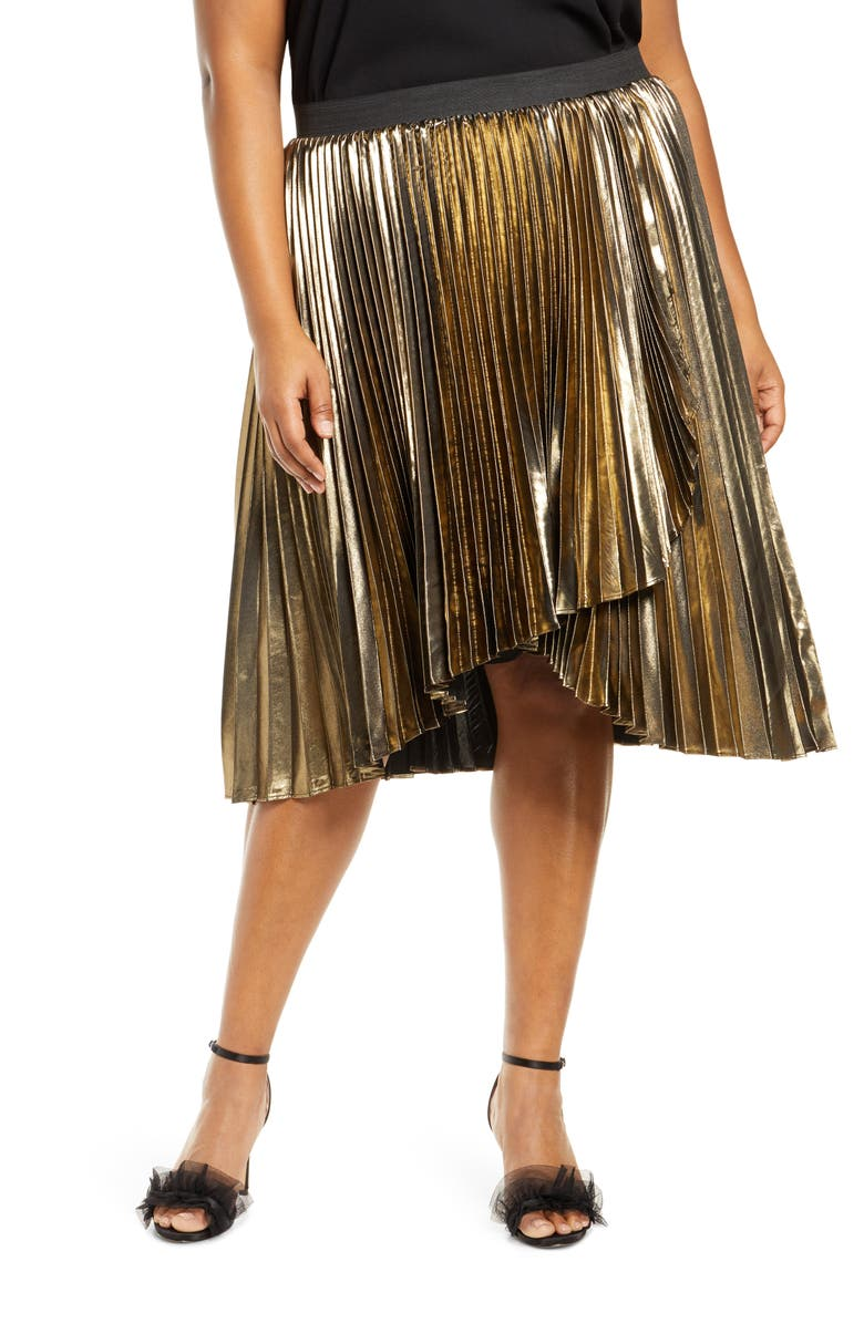 HALOGEN<SUP>®</SUP> x Atlantic-Pacific Waterfall Lamé Skirt, Main, color, 710