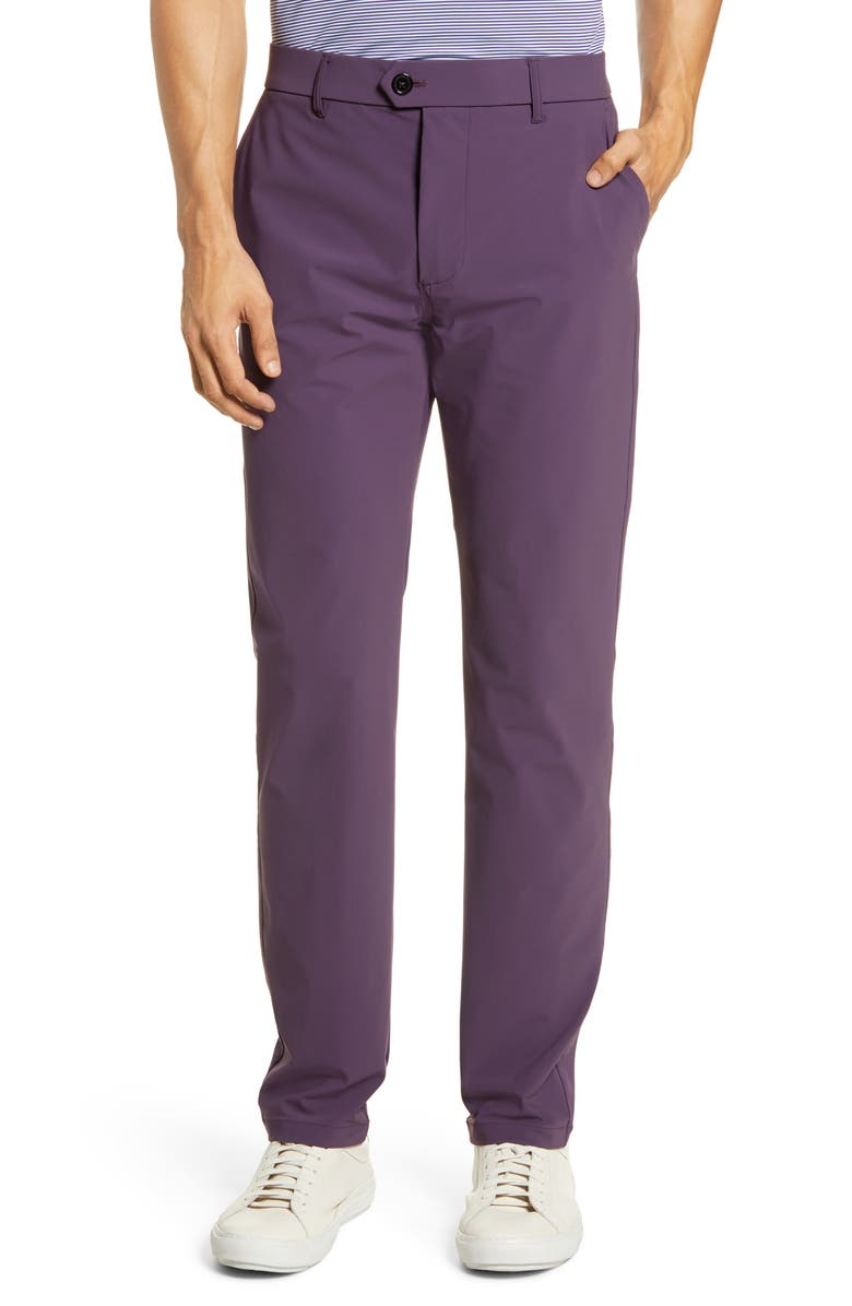 GREYSON Montauk Stretch Golf Pants, Main, color, MULBERRY