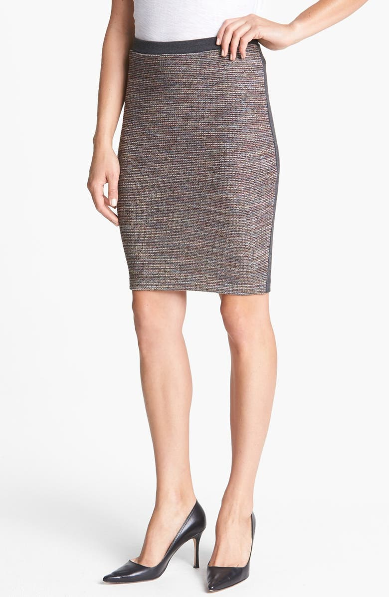 HINGE <sup>®</sup> Mixed Media Pencil Skirt, Main, color, 001