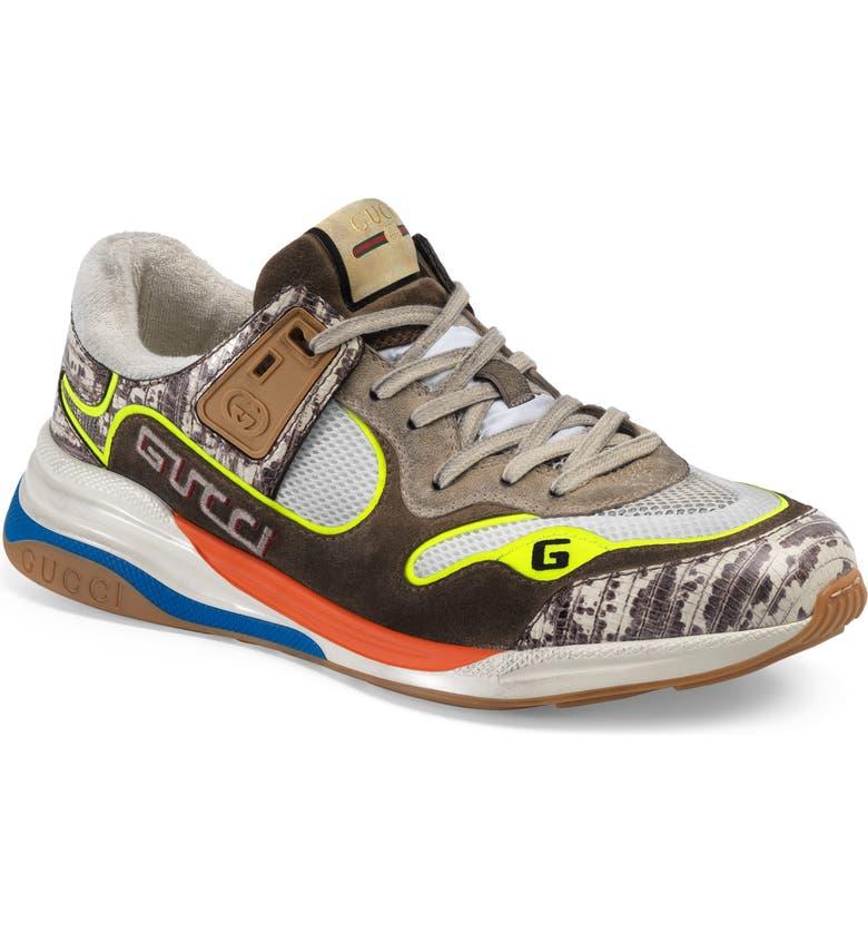 GUCCI Ultrapace Sneaker, Main, color, KHAKI MULTI
