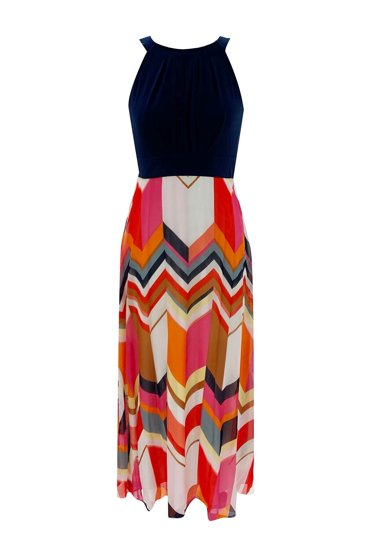 Image of Sandra Darren Sleeveless Chiffon Maxi Dress