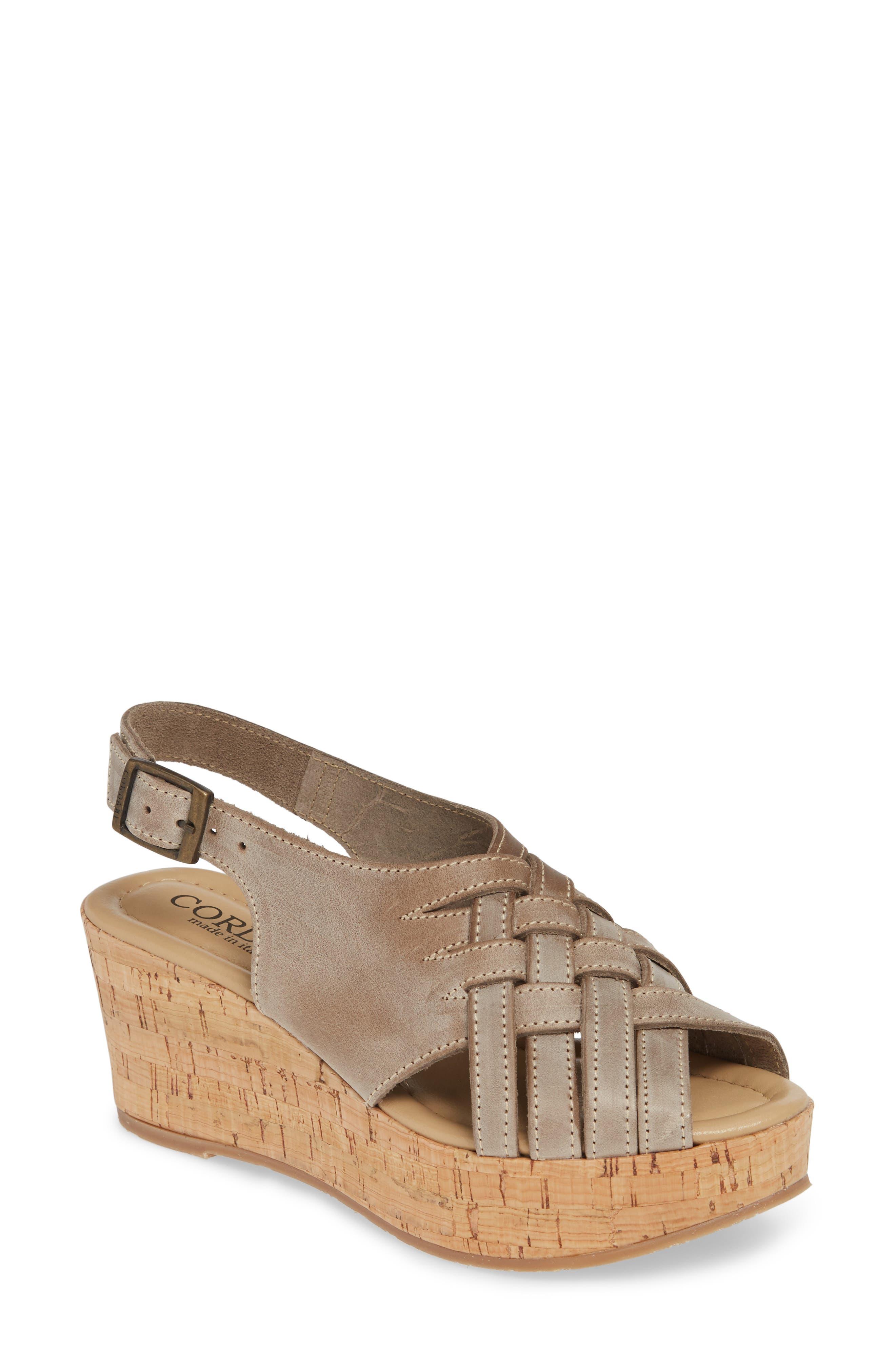 Cordani Dora Wedge Sandal - Grey