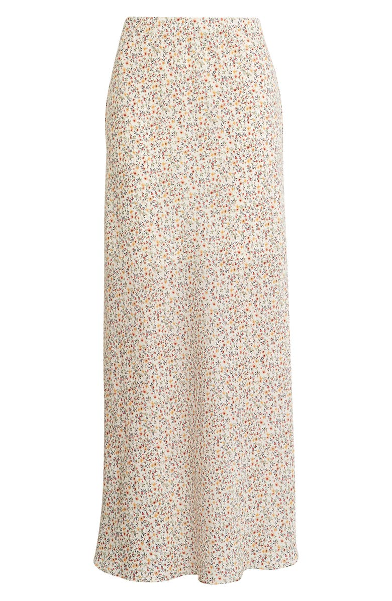 SOCIALITE Floral Print Maxi Skirt, Main, color, IVORY MULTI DITSY FLORAL