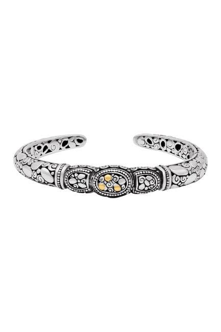 Image of DEVATA Two-Tone Sterling Silver Cuff Bracelet