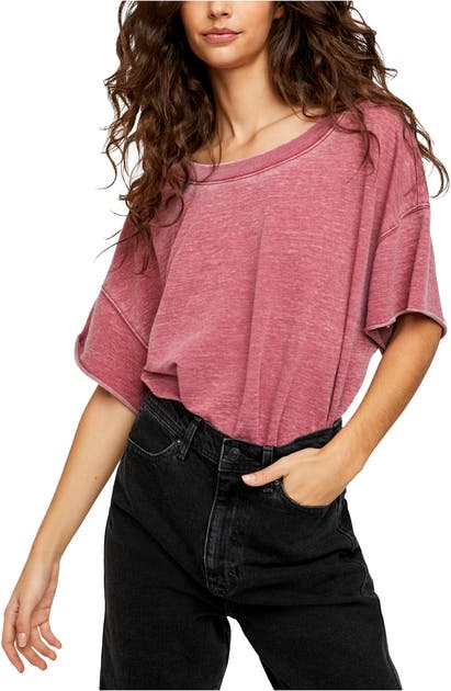 Free People Clothing COZY GIRL FRENCH TERRY BODYSUIT