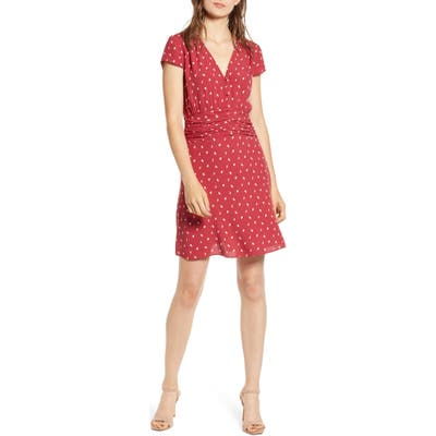 Chelsea28 Ruched Waist Minidress, Red