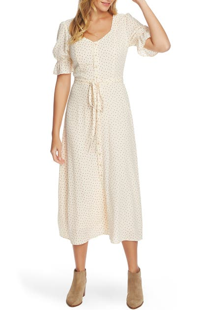 1.state Dresses SCATTER DOT PUFF SLEEVE DRESS