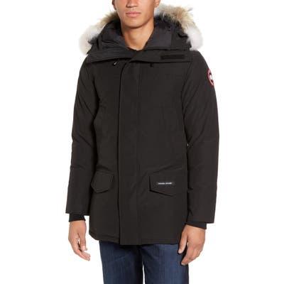 Canada Goose Langford Fusion Fit Parka With Genuine Coyote Fur Trim, Black