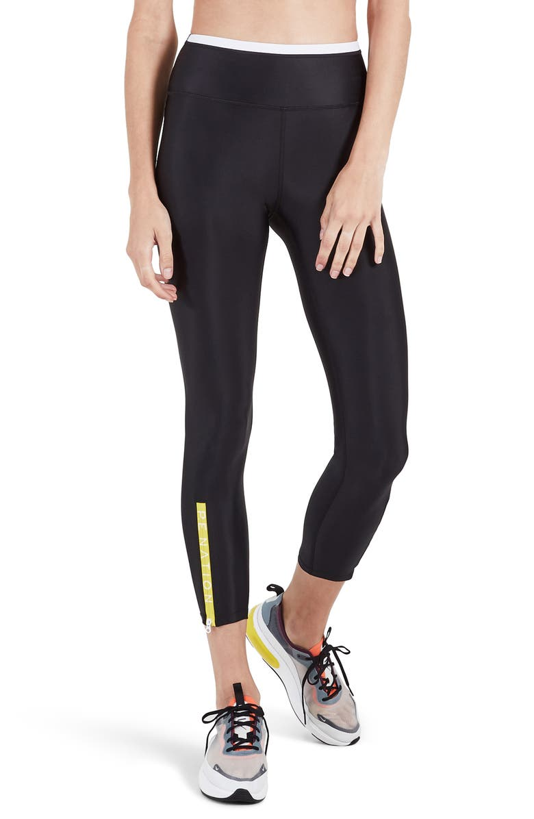 P.E NATION Steady Run 7/8 Leggings, Main, color, 001