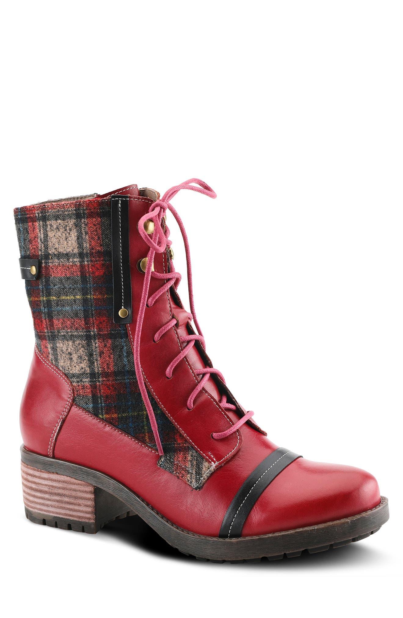 Eguine Plaid Ankle Boot