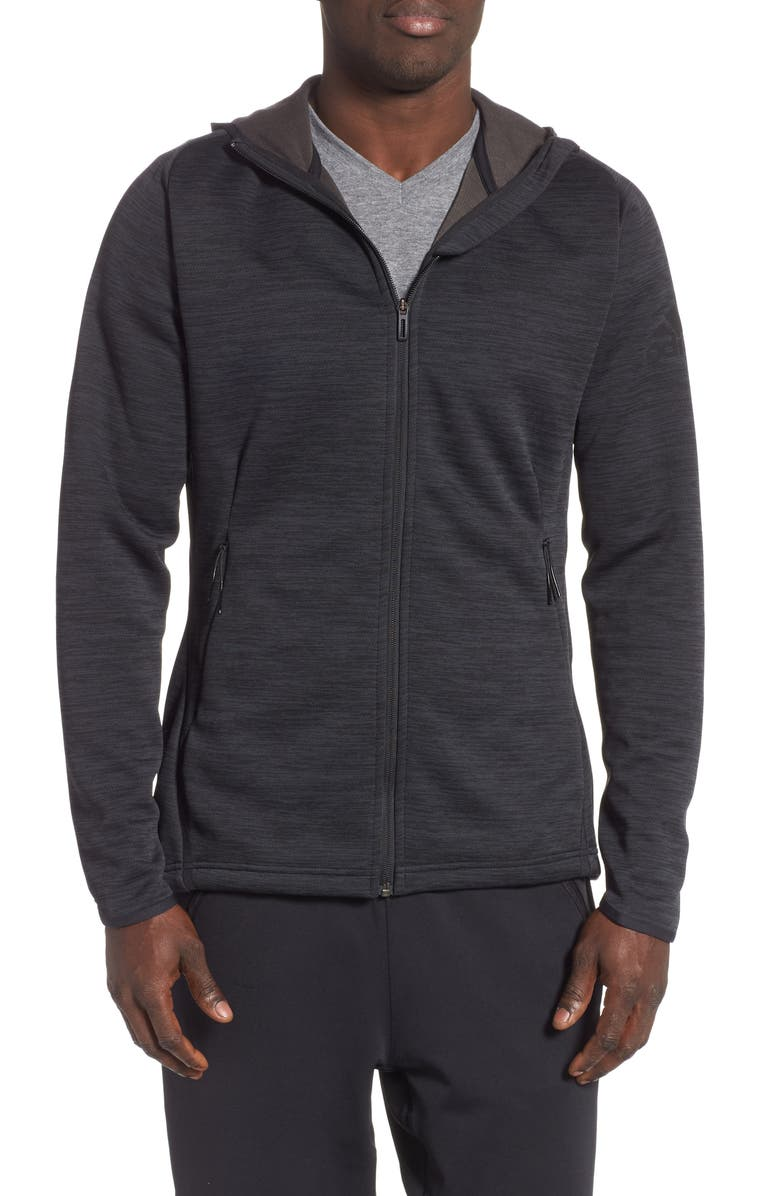 ADIDAS Climaheat<sup>®</sup> Hoodie, Main, color, CARBON/ BLACK