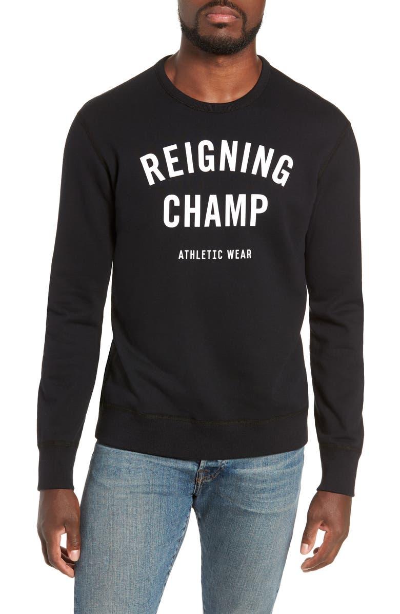 REIGNING CHAMP Gym Logo Sweatshirt, Main, color, 003