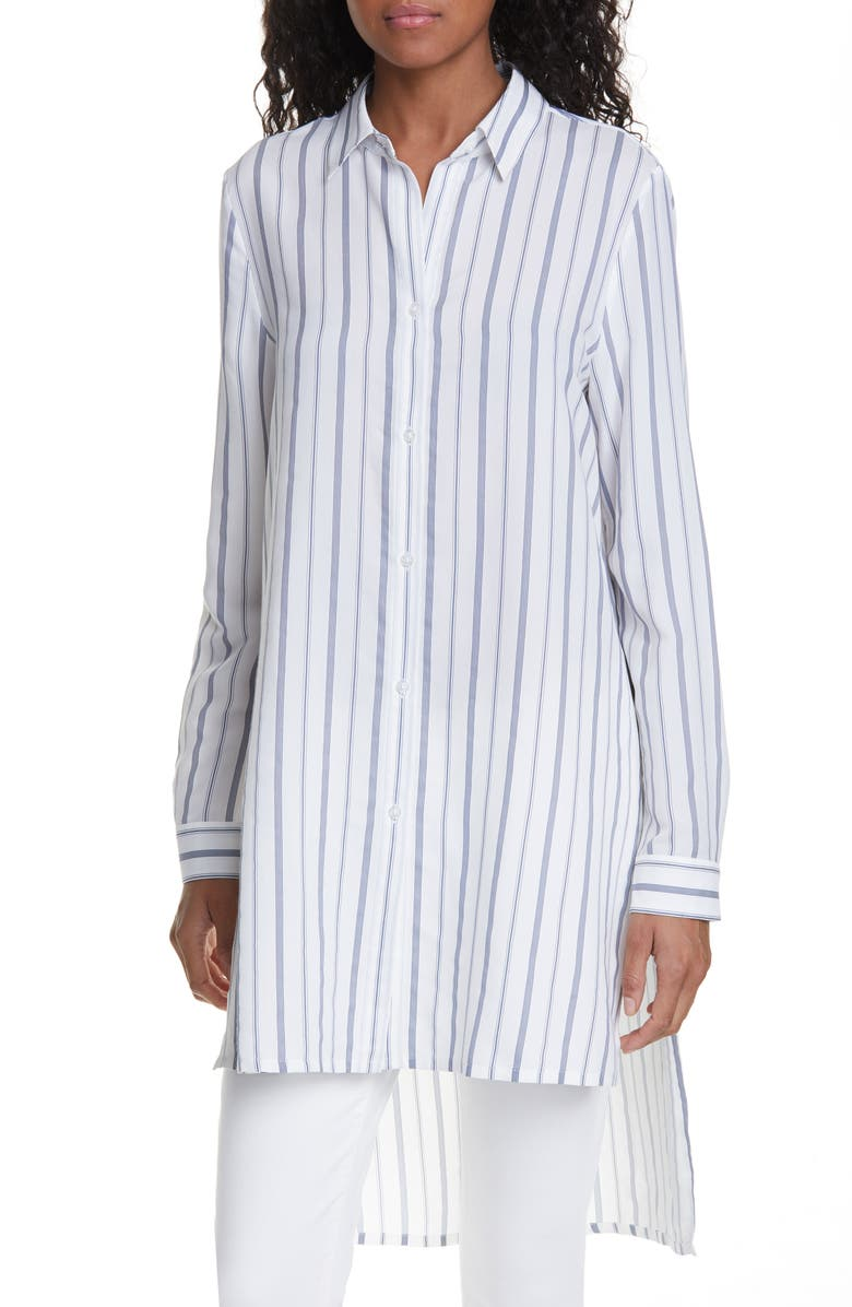 HUGO Ekale Elongated Stripe Shirt, Main, color, 400