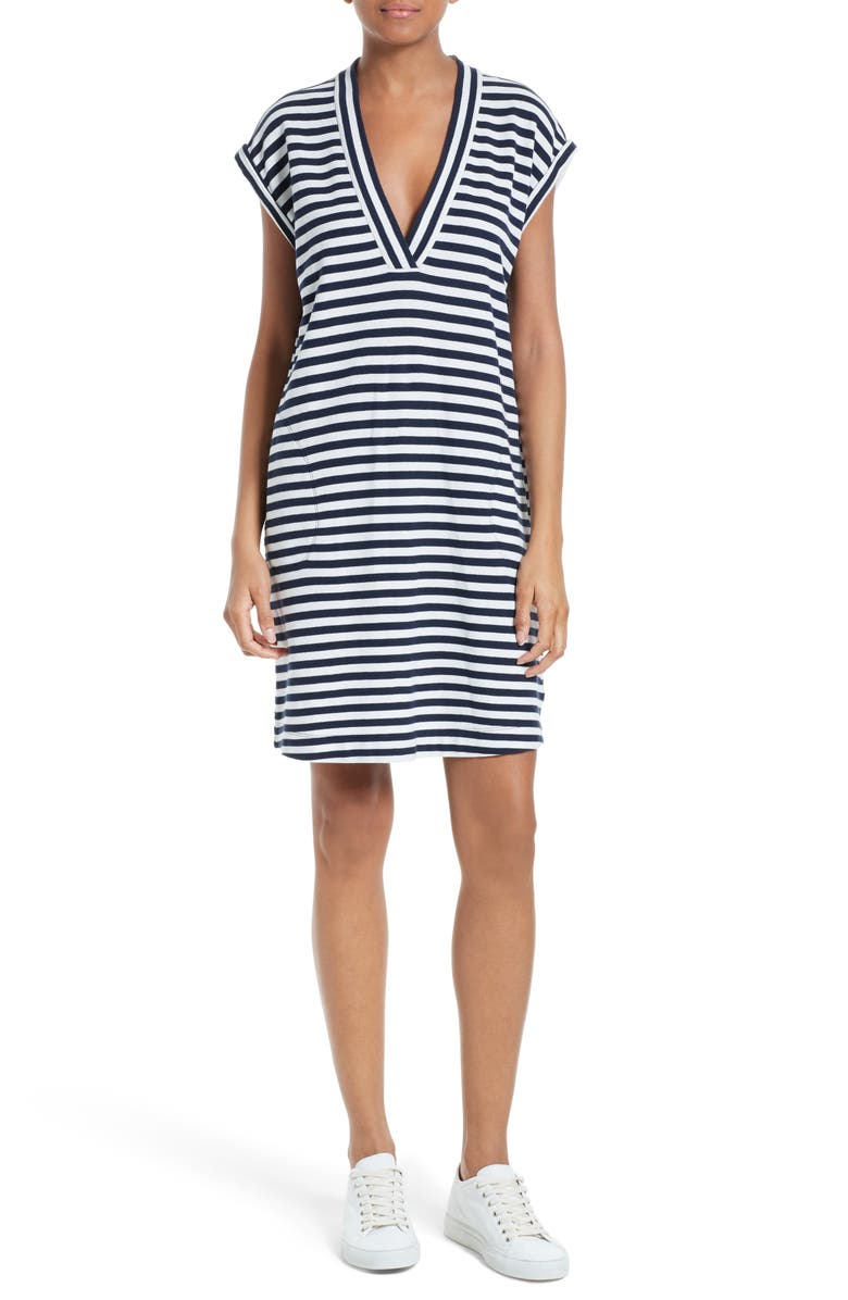 ATM ANTHONY THOMAS MELILLO Extended Shoulder Piqué Dress, Main, color, 419