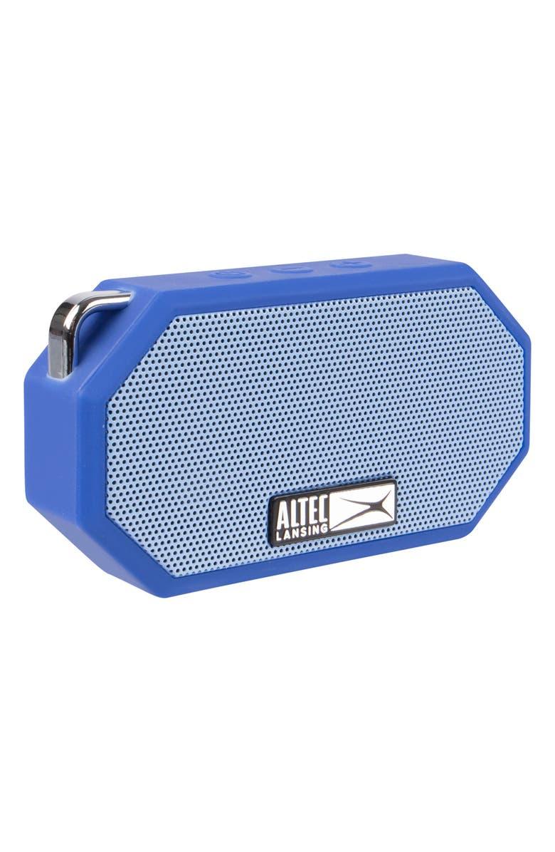 ALTEC LANSING Mini H2O 3 Waterproof Compact Speaker, Main, color, DEEP MID BLUE/ BLUE