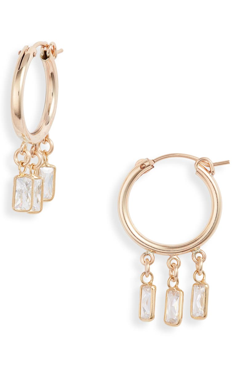 SET & STONES Samantha Hoop Earrings, Main, color, GOLD