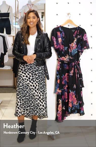 Floral Chiffon Faux Wrap Dress, sales video thumbnail