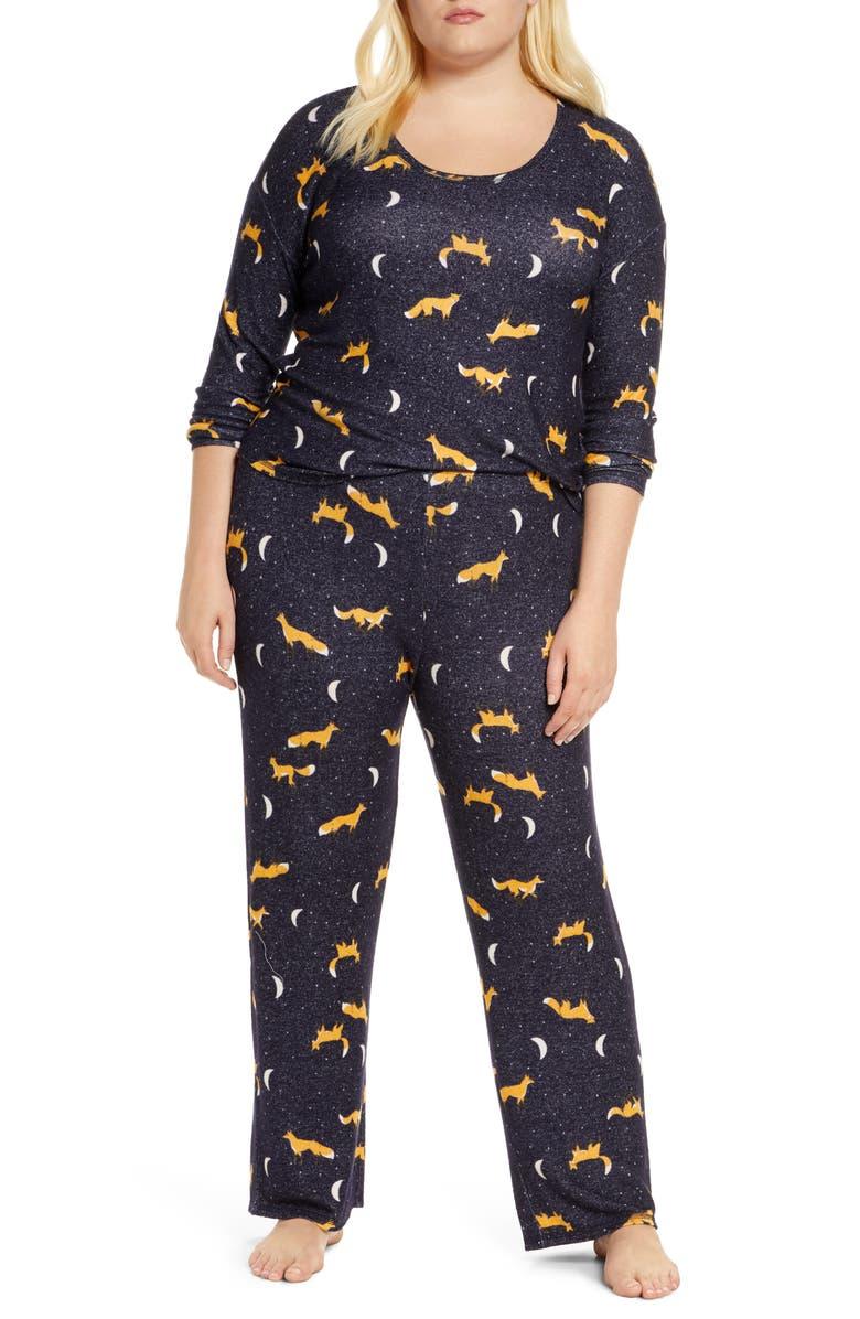 BP. Girlfriend Pajamas, Main, color, NAVY PEACOAT MOON FOXES