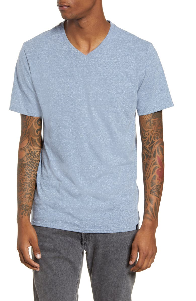 THREADS 4 THOUGHT Slim Fit V-Neck T-Shirt, Main, color, CHINA BLUE