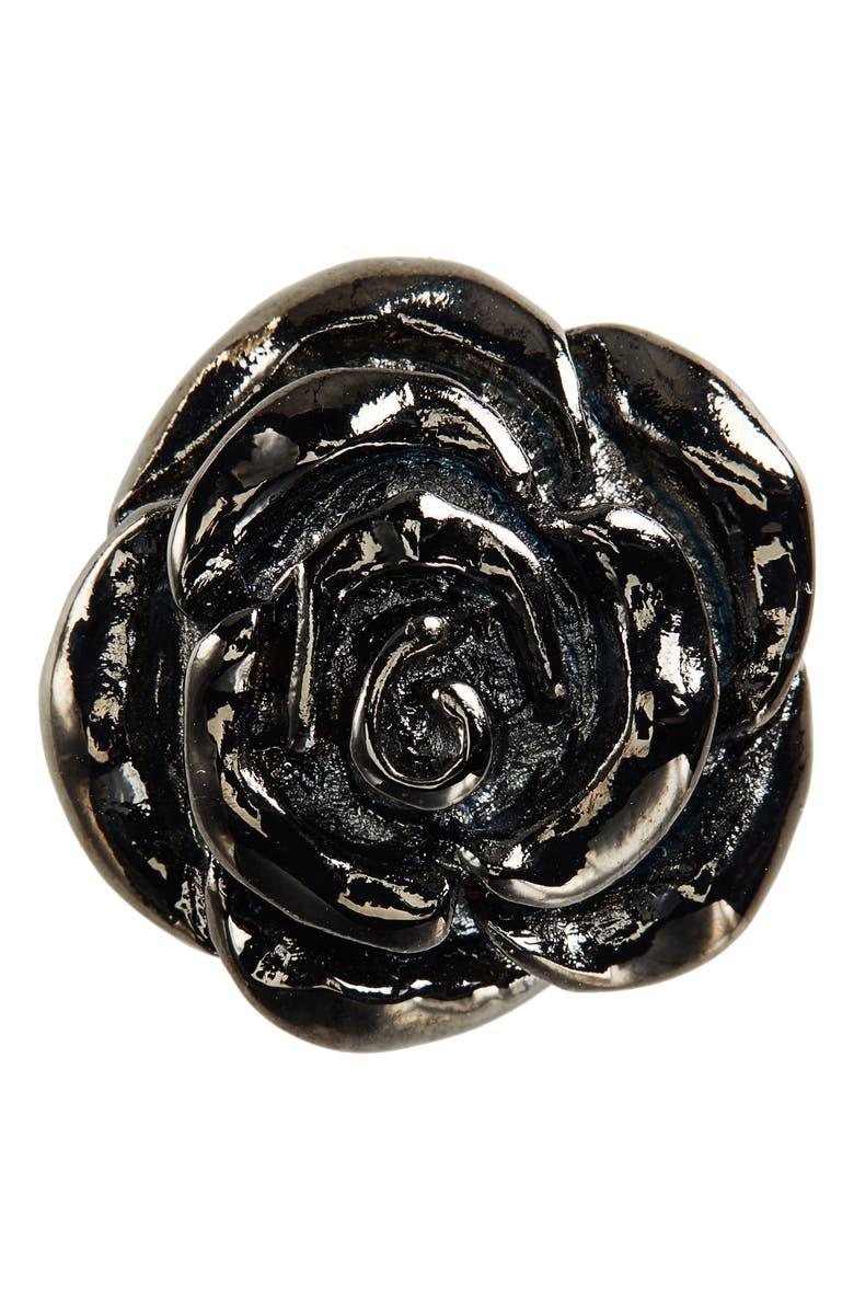 NORDSTROM MEN'S SHOP Metal Rose Lapel Pin, Main, color, 044