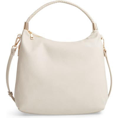 Sole Society Dunne Faux Leather Crossbody Bag - White