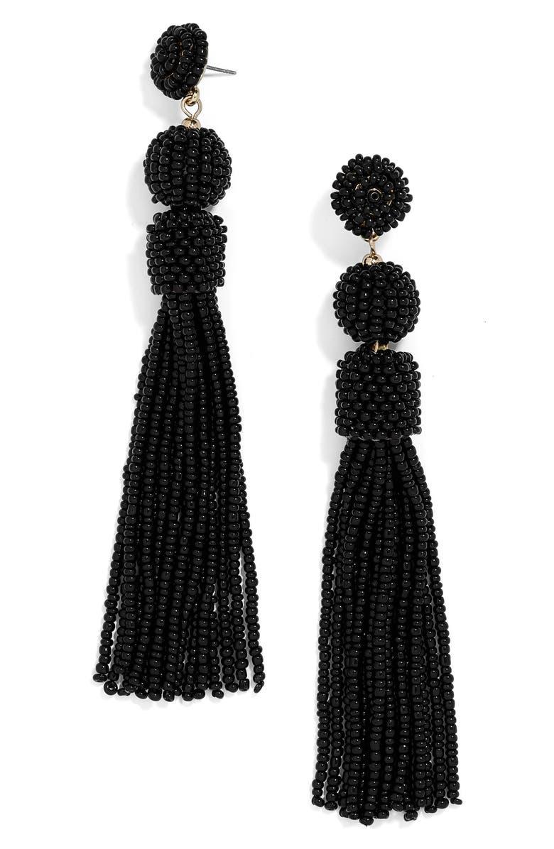 BAUBLEBAR Mariachi Beaded Tassel Earrings, Main, color, 001